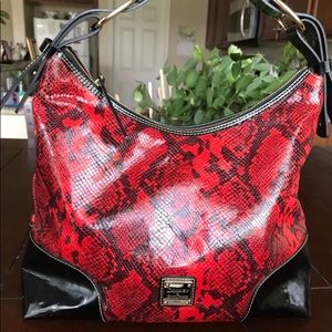 Dooney & Bourke Red Python Hobo